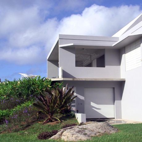 Grounds and landscaping at Casa Angular, a luxury Vieques vacation rental.