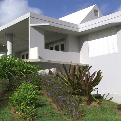 Landscaping and Architecture at Casa Angular vacation villa rental on Vieques island, Puerto Rico