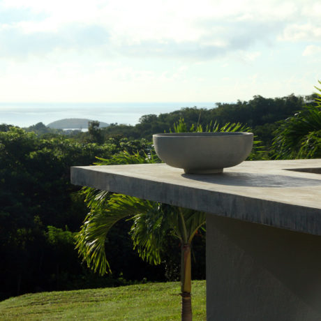 Pool point and Caribbean Sea view at Casa Angular