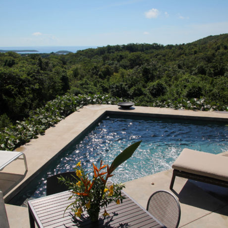 Pool view at Casa Angular, a Vieques vacation rental villa