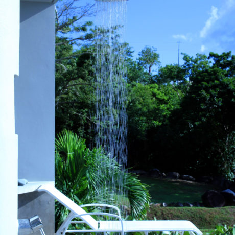 Outdoor Pool shower at Casa Angular, a Vieques vacation rental villa