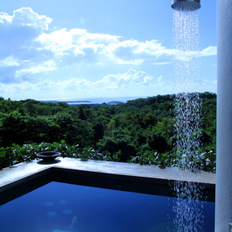 Outdoor pool shower at Casa Angular