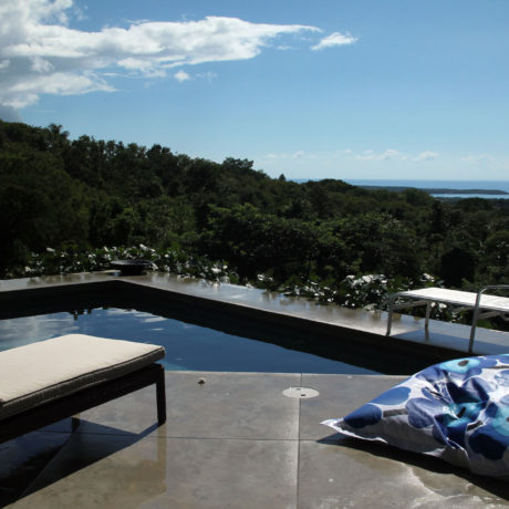 Pool view at Casa Angular, a Vieques island villa rental.