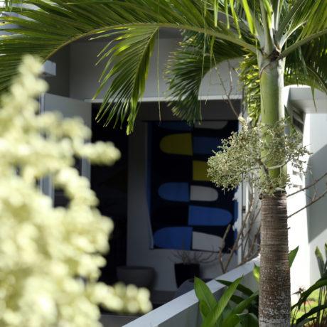 Tropical Vacation Rental Entrance