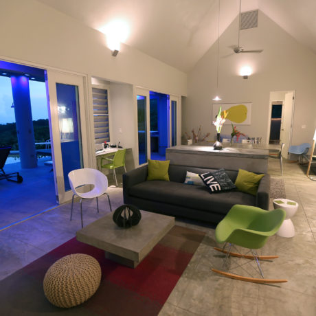 Large open floor plan in the Casa Angular Vieques vacation rental home