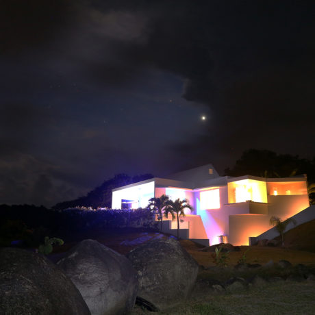 Vieques villa at night