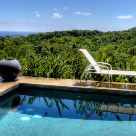Casa Angular pool with a Caribbean view