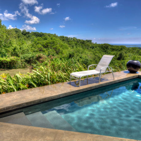 Casa Angular pool with a Caribbean view, Vieques island, Puerto Rico.
